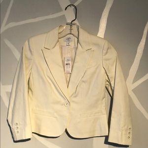 LOFT off white one button lined blazer - 00P